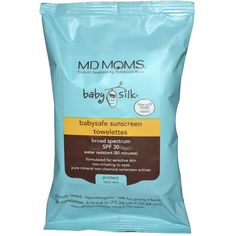 MD Moms Baby Silk Sunscreen Towelettes - the ONLY sunscreen safe for infants under 6 months