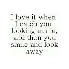 I almost always start laughing when I see you starring in me.  Or if I meet you .