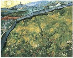 Vincent van Gogh - Field of Spring Wheat at Sunrise, 1889