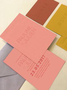 Faire-part original coloré et moderne tendance 2017