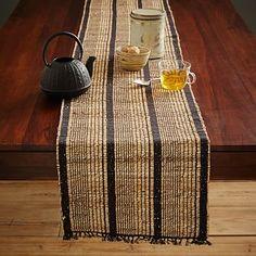Striped Natural Table Runner #westelm