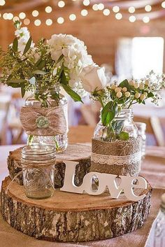 18 Ideas Of Budget Rustic Wedding Decorations ❤ See more: http://www.weddingforward.com/budget-rustic-wedding-decorations/ #weddings #rustic