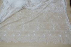 3 Yards 150cm Wide High Quality French Style Chantilly Lace Fabric Black from Reliable lace fabric flower suppliers on Craft Lace Supplies.