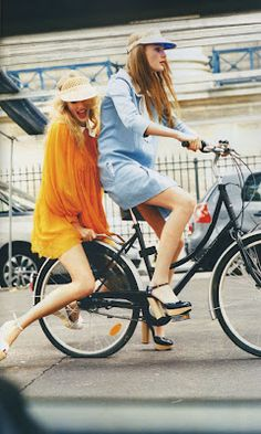 love when women ride bikes in whatever they feel like wearing, even if it's not practical.