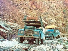 I really like the dusted blue with some fade at the corner.  Land Rover 109 Serie III. Mountain Route.