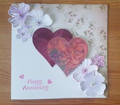 Anniversary card stampin up flowers