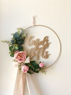 Items similar to Floral Wreath with Cards and Gifts Sign – Cards and Gifts Sign Wreath – Blush Roses Wreath – Floral Hoop Wreath – Venice Line on Etsy Baby Shower Decorations, Baby Decor, Wedding Decorations, Engagement Decorations, White Wreath, Floral Wreath, Alphabet Letter Crafts, Floral Hoops, Blush Roses