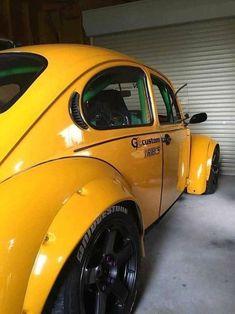 Vw Classics Official Muscle on Volkswagen Beetle, Beetle Car, Ferdinand Porsche, Combi Wv, Vw Super Beetle, Hot Vw, Yellow Car, Vw Cars, Modified Cars