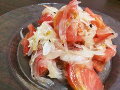 トマトと新玉ねぎのさっぱりマリネの画像