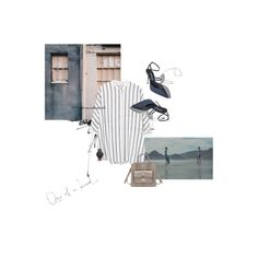 A fashion look from August 2016 featuring oversized white shirts, mini purse and marble jewelry. Browse and shop related looks. Oversized White Shirt, Fashion Layouts, Marble Jewelry, Mini Purse, White Shirts, Balenciaga, Mango, Stripes, Clothing