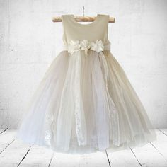 Fiona flower-girl, christening or party dress in sand-mix. Little Miss Little Miss Dress, Girl Christening, Children Clothes, Lace Patterns, Dress Designs, 21 Days, Special Occasion Dresses, Dress Making, Tutu