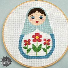 Russian Doll Cross Stitch Pattern. $4.00, via Etsy.