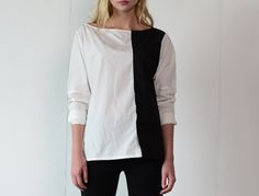 """Asymmetrical Tuxedo Shirt - """"PREORDER"""" #SS2016"""