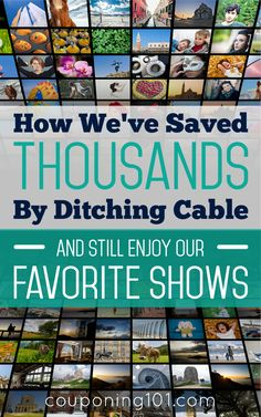 How we saved thousands of dollars over the past 5 years by ditching cable and how we still get to watch all of our favorite shows! Save Money On Groceries, Ways To Save Money, Money Tips, Money Saving Tips, Make Money Online, How To Make Money, Couponing 101, Extreme Couponing, Cable Tv Alternatives