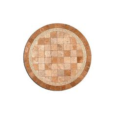 """Campeche Mosaic Tabletop - 24"""" Round, Side Tabletop ($595) ❤ liked on Polyvore featuring home, outdoors, furniture, occasional tables and outdoor furnishings"""