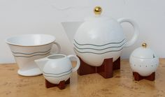 Michael Graves Postmodern Tea Set & Strainer By Swid & Powell image 2