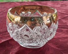 EAPG Early American Pattern Glass, Antique Glassware, Vintage Glassware, Gold trim Glassware, Cut Glass