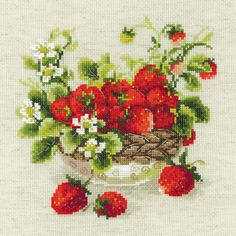 """Garden Strawberry Counted Cross Stitch Kit-11.75""""X11.75"""" 10 Count"""