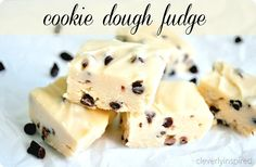 cookie dough fudge recipe no bake @cleverlyinspired