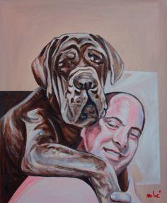 "true love 30x24"" oil on canvas by drago milic"