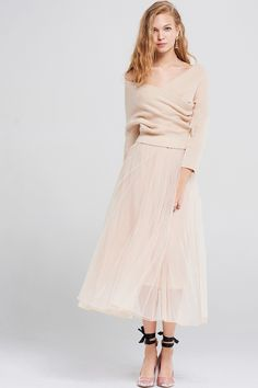 Izabel Tulle Dress With Knitted Top Discover the latest fashion trends online at storets.com