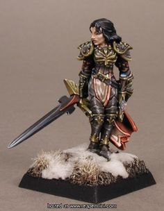 Female paladin painted by the incomparable Jen Hailey