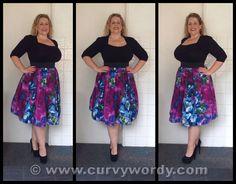 Evans Scarlett & Jo Multi Floral Prom Skirt http://www.curvywordy.com/2015/01/evans-scarlett-jo-multi-floral-print.html