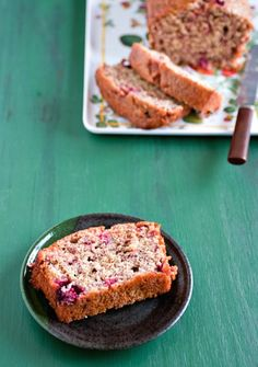 whole wheat summer berry bread with lemon glaze