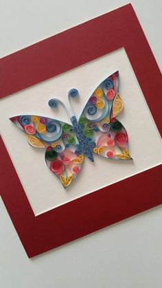 Quilling, also known as paper filigree, is a form of art where a strip of paper is rolled, shaped and glued together to create decorative designs.