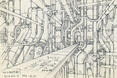Takashi Watabe, concept design for <i>Ghost in the Shell 2 – Innocence</i> (2004), pencil on paper, 176 x 250 mm. © 2004 Shirow Masamune / Kodansha, IG, ITNDDTD