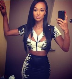 bac0dc597bdd6 Draya kills it every time Selfies