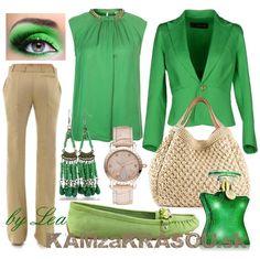 Krásna v zelenej blúzke - KAMzaKRÁSOU.sk #kamzakrasou #sexi #love #jeans #clothes #coat #shoes #fashion #style #outfit #heels #bags #treasure #blouses #dress