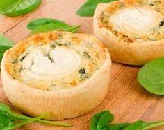 Tartelettes chèvre et épinards frais (facile, rapide) - Une recette CuisineAZ