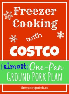 Freezer cooking doesn't have to take all day. In just 1-2 hours you can have a few meals stored away in your freezer. Check out this simple free printable plan!