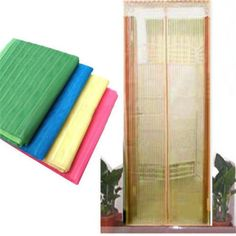 High Quality New Style Hands-Free Magic Mesh Screen Door Magnetic Anti Mosquito Bug Doors