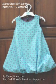 Innocentia: Basic Balloon Dress Tutorial and Patterns 2years