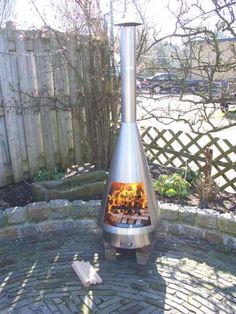 Fuego Hogara RVS tuin haard brandend