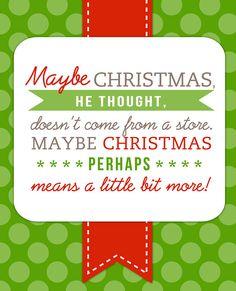 free printable dr. seuss christmas quote More