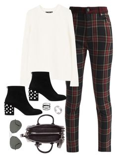 """""""Untitled #4353"""" by magsmccray on Polyvore featuring Stuart Weitzman, Yves Saint Laurent, Ray-Ban and Cartier"""