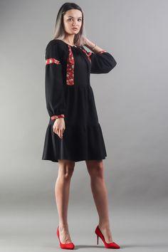 Work Fashion, Elegant Dresses, Streetwear, Cold Shoulder Dress, City, Floral, Street Outfit, Stylish Dresses, Dress Up Clothes
