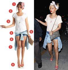 Luxe for Less: Rihanna's Modern Pin Up Look Pin Up Looks, Modern Pin Up, Psychobilly, Body Mods, Pin Up Girls, Rihanna, Rompers, Rockabilly, Crop Tops