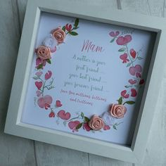 Gift For Mum, Present For Nana, Grandma Gift, Personalised Frame For Mum, Gift For Mother, Mam, Birthday Gift Mother, Gift For Mammy