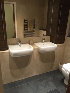 Customer en-suite bathroom using Moleanos and Brazilian to create a calming and luxurious space Stone Store, New Bathroom Ideas, Calming, Slate, Natural Stones, Tiles, Sink, Inspirational, Flooring