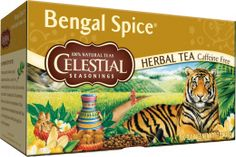 Celestial Seasonings Bengal Spice Herbal Tea - This is like a sweet 'n mild take on chai tea . Desserty and delicious, comforting and caramel-y... plus it's caffeine-free (and calorie-free too).