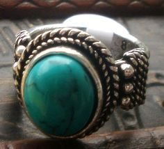 New fashion turquoise ring women's gift jewelry ssjz14lv