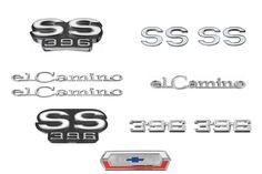EMBLEM KIT, 69 EL CAMINO SS 396  Camaro Parts/Chevelle Parts/El Camino Parts/Nova Parts/67-72 Chevrolet Truck Parts/Accessories/Automotive/Restoration/Used Parts/Consignment Muscle Cars/Rancho Cordova/916.638.3906 72 Chevelle, All Cars, Monte Carlo, Super Cars, Ranch, Restoration, History, El Camino, Guest Ranch