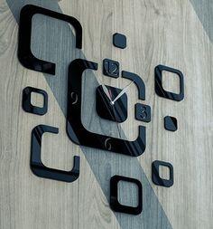 Zegar Kwadratowe Abstrakcje - akryl