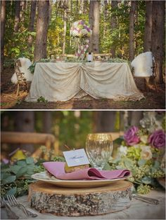 woodsy wedding ideas for fairytale themed wedding #weddingreception #fairytalewedding #weddingchicks http://www.weddingchicks.com/2014/01/27/princess-bride-wedding-inspiration/