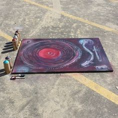 spray can turntable art