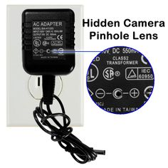 Motion-Activated Spy Camera - Hidden camera records up to 32 hours of continuous or motion activated, high quality video; disguised as an everyday AC adapter;  saves to an SD card - watch your video from the privacy of your own computer; plug into any TV for play back and no batteries required!